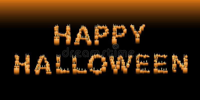 świeczki Halloween znak ilustracja wektor
