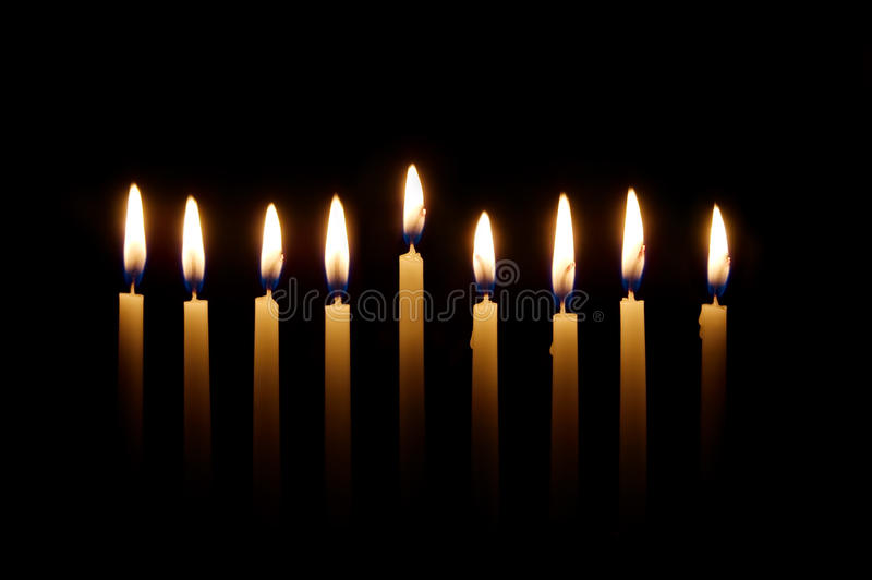 świeczki Hanukkah obraz royalty free