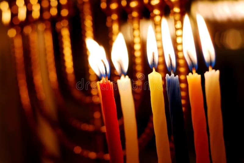 świeczki Hanukkah obraz stock
