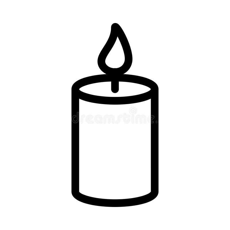 Świeczki ikona ilustracja wektor