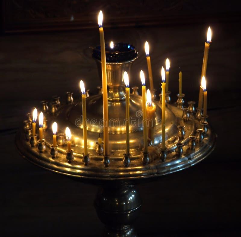 świeczki kościelne zdjęcie stock