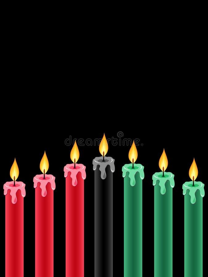 świeczki Kwanzaa ilustracja wektor