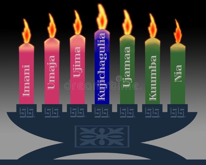 świeczki Kwanzaa ilustracji