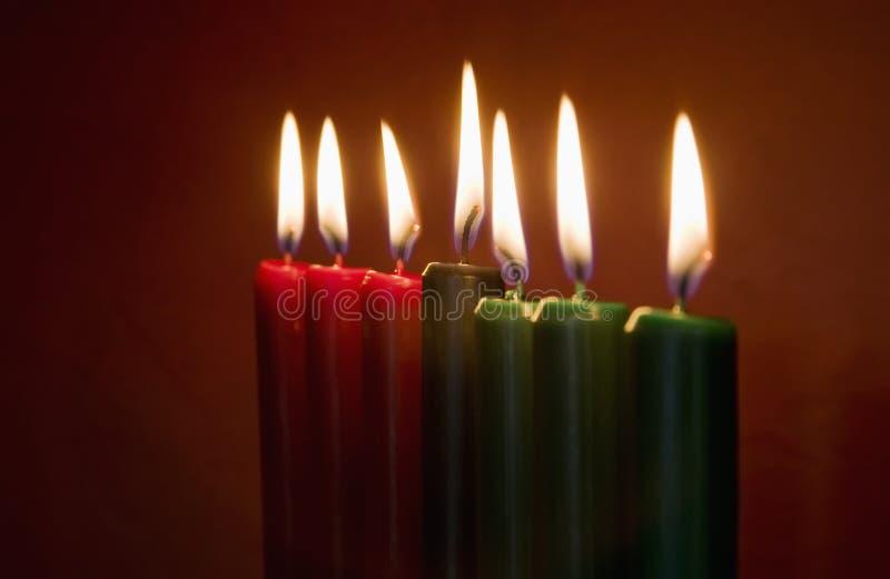 świeczki Kwanzaa obraz royalty free