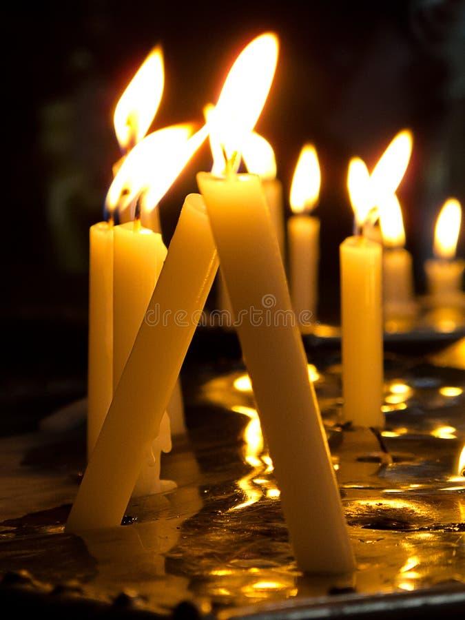 świeczki modlitewne fotografia royalty free