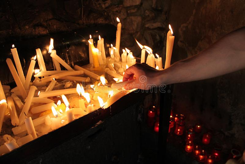 Świeczki oświetlenie obraz stock