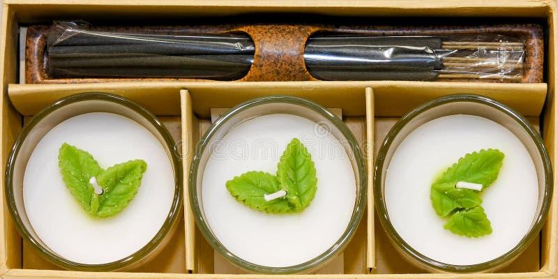 świeczki perfumowych set obraz royalty free