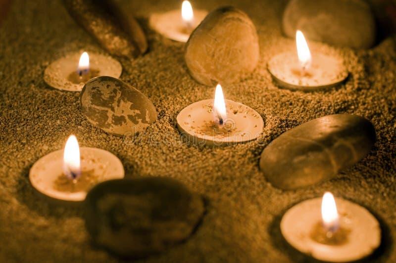 świeczki piasek zdjęcia royalty free
