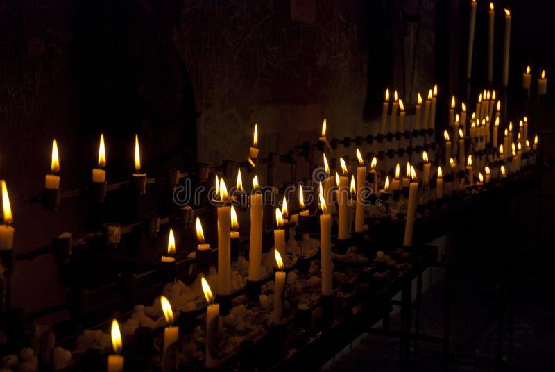 świeczki pielgrzym zdjęcie royalty free