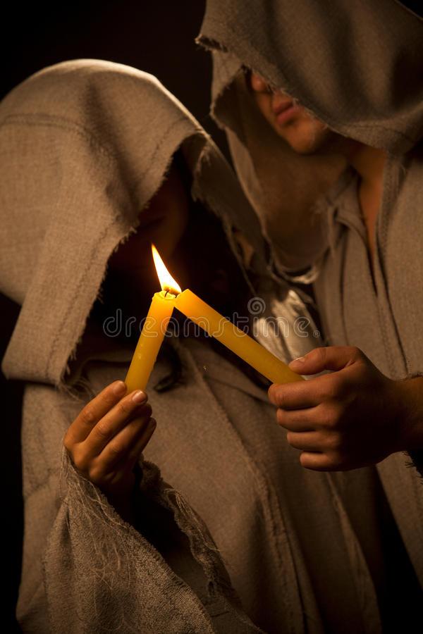 świeczki praing michaelita magdalenek obrazy royalty free