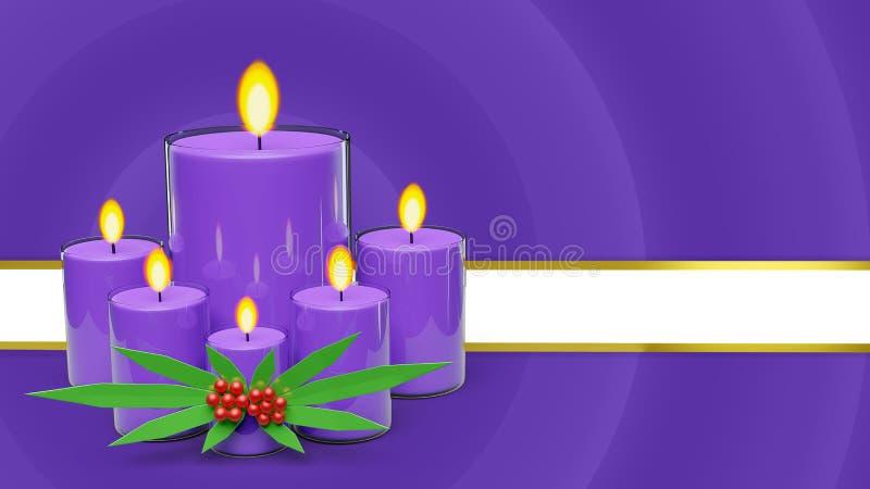 świeczki tła 3d renderingu ilustracja wektor