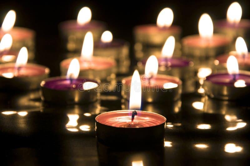 świeczki up zamknięty zdjęcie stock