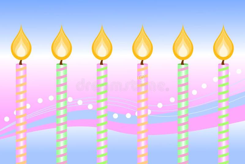 świeczki urodzinowe szczęśliwe ilustracja wektor