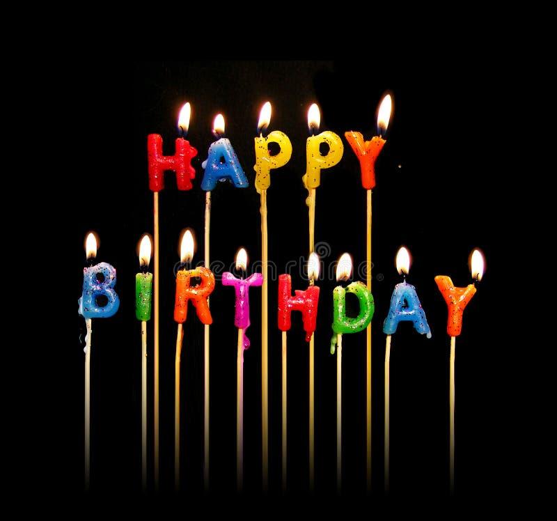 świeczki urodzinowe szczęśliwe zdjęcie stock