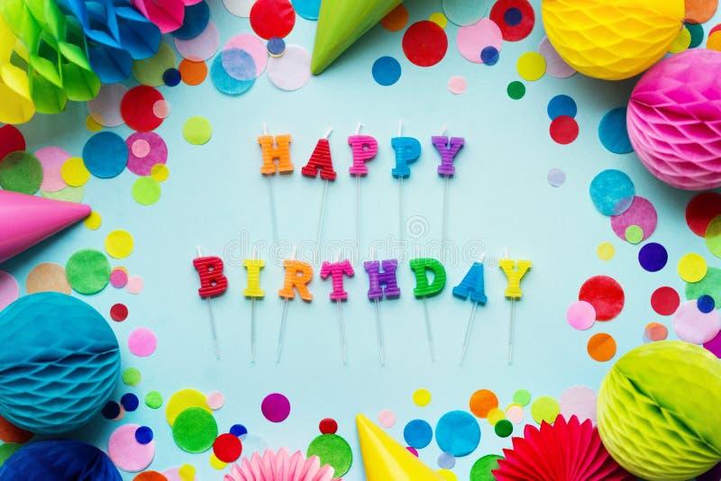 świeczki urodzinowe szczęśliwe obraz royalty free