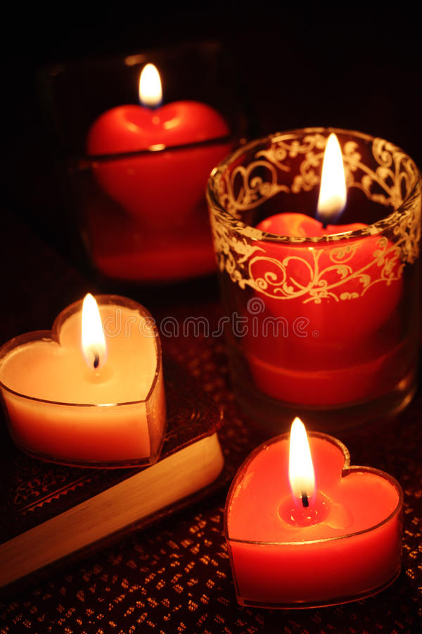świeczki valentine obrazy stock