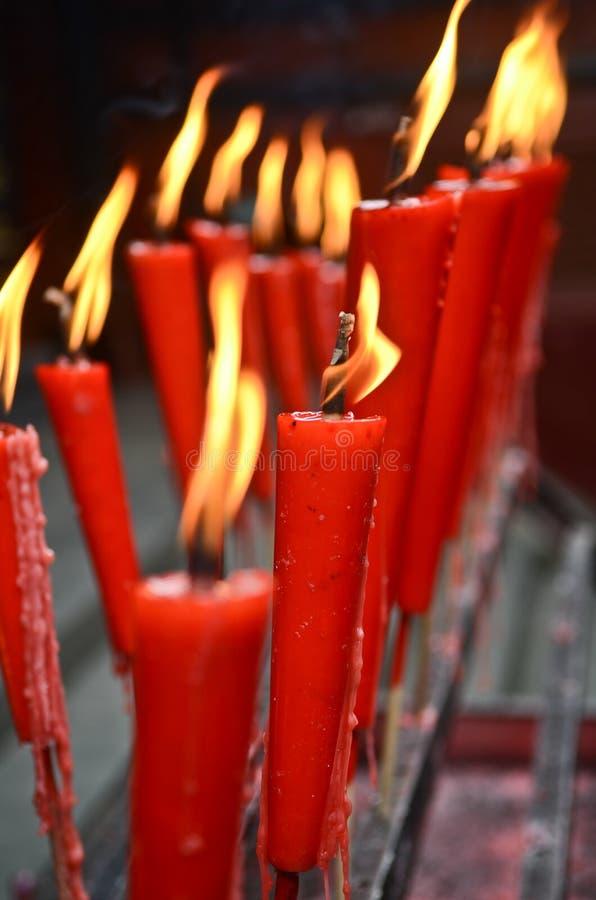 Świeczki w świątyni obrazy royalty free