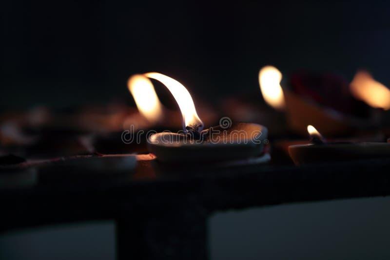 Świeczki w Batu Zawalają się obrazy royalty free