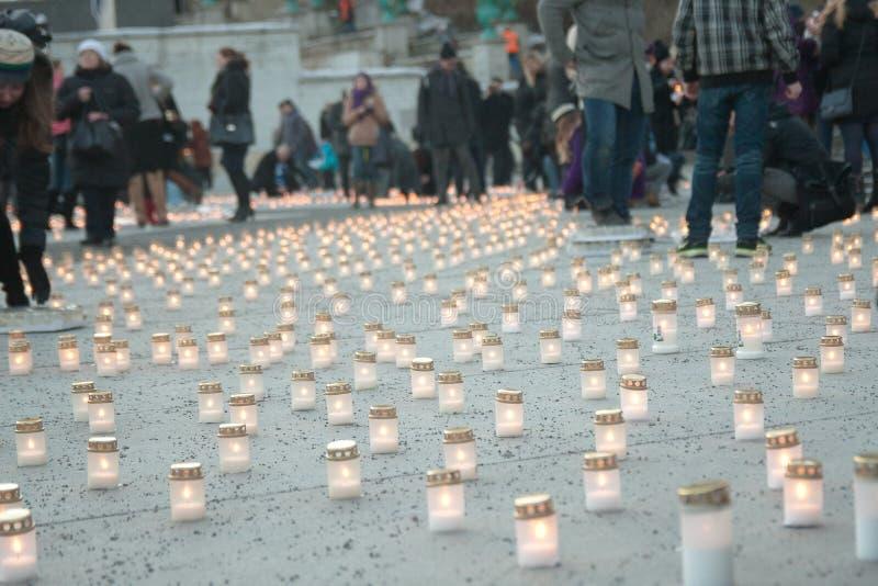 Świeczki w Tallin Estonia zdjęcia stock