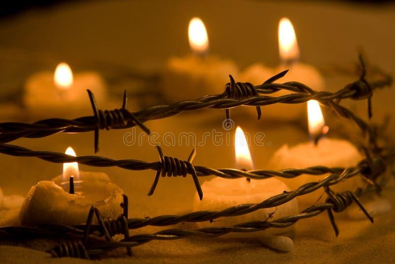 świeczki wolność fotografia stock