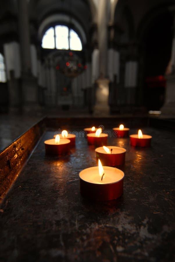 świeczki wotywne fotografia stock