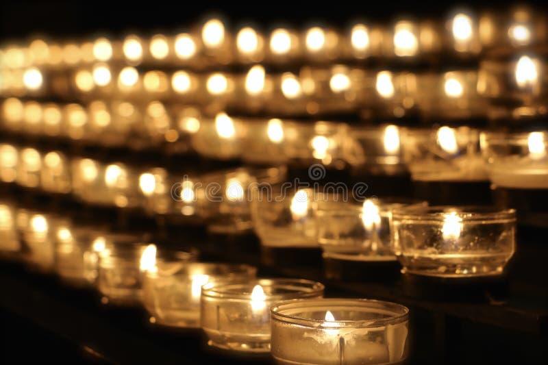 Świeczki wspominanie zdjęcie stock