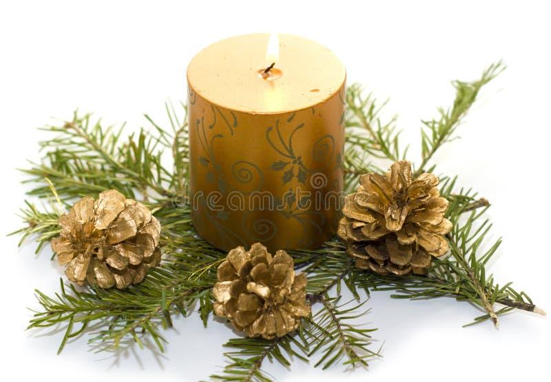 świeczki złoto zdjęcie royalty free