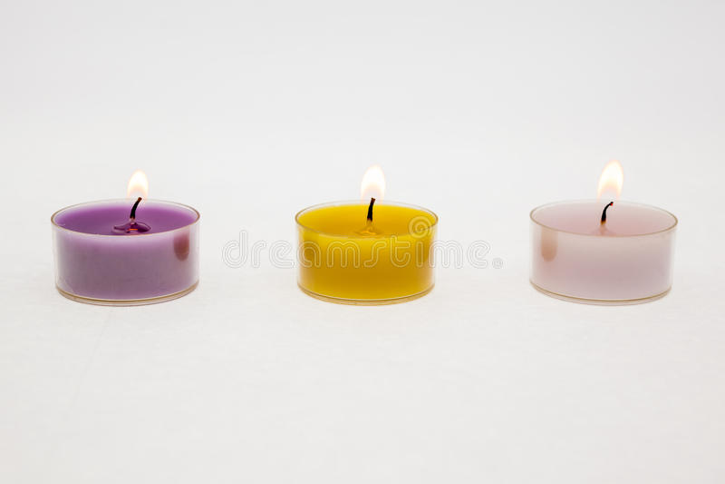 świeczki zapalone herbatę fotografia royalty free