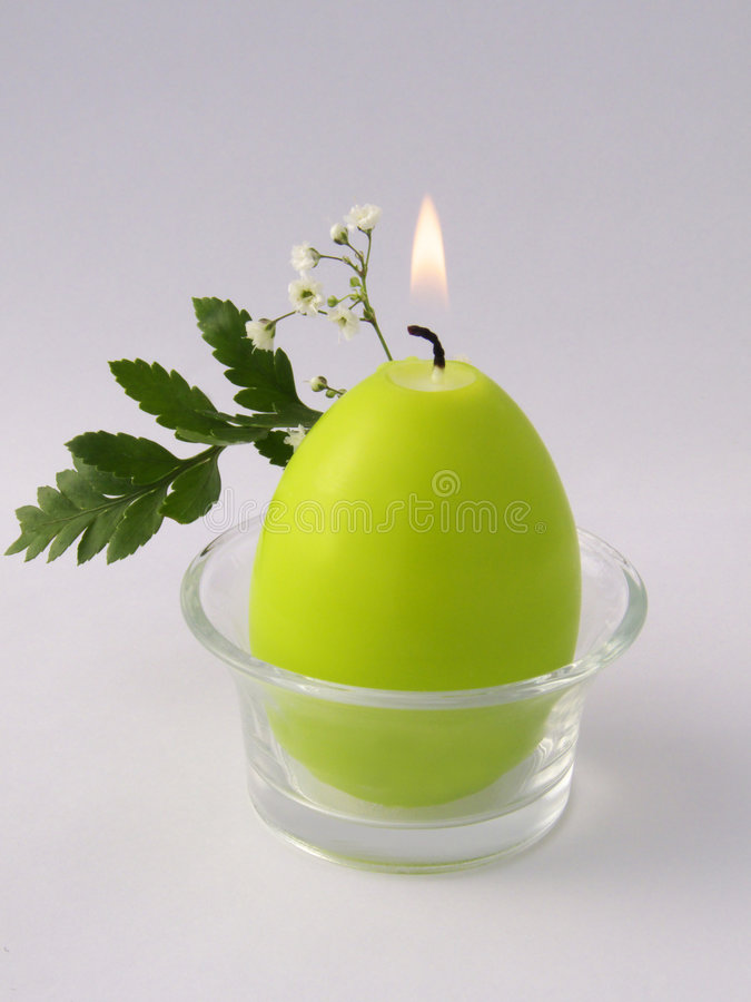 świeczki zieleń zdjęcie stock
