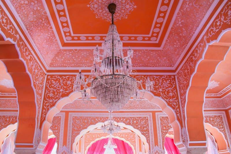 Świecznik przy Diwan-i-Khas, Hall Intymna widownia w Jaipur - obraz royalty free