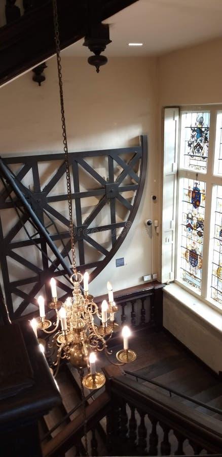 Świecznik w muzeum przy Oxford obraz royalty free