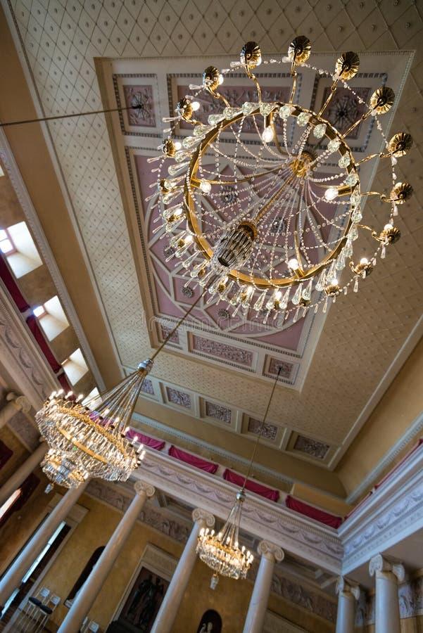 Świecznik wielka hala przy Stadtschloss w Weimar zdjęcia stock