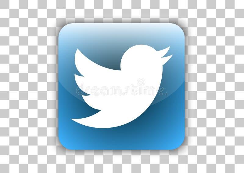 Świergot ikony ogólnospołeczny medialny guzik z symbolem Inside ilustracji