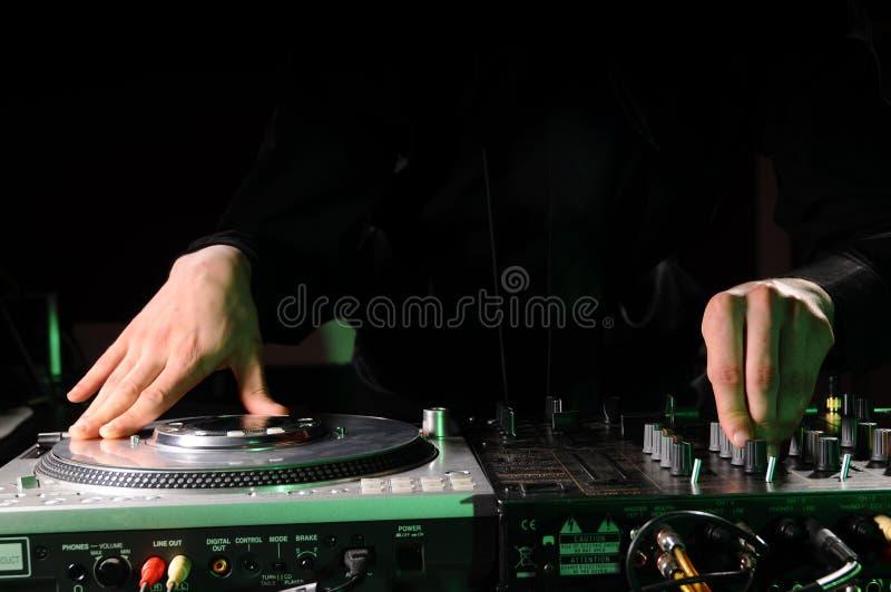 świetlicowa dj muzyki noc fotografia stock