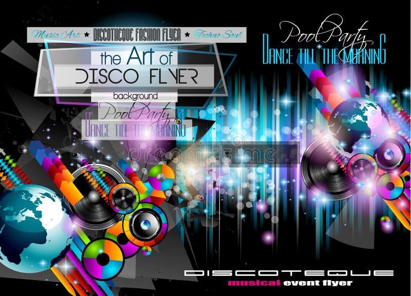Download Świetlicowa Dyskoteki Ulotka Ustawiająca Z NISKIM POLI- DJs Ilustracja Wektor - Ilustracja złożonej z przyjęcie, kreatywnie: 57674672