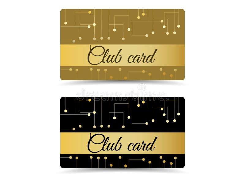 Świetlicowa karta Świetlicowa vip karta Ustalone świetlicowe karty, prezent karty ilustracja wektor
