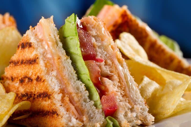 Świetlicowe kanapki obrazy stock