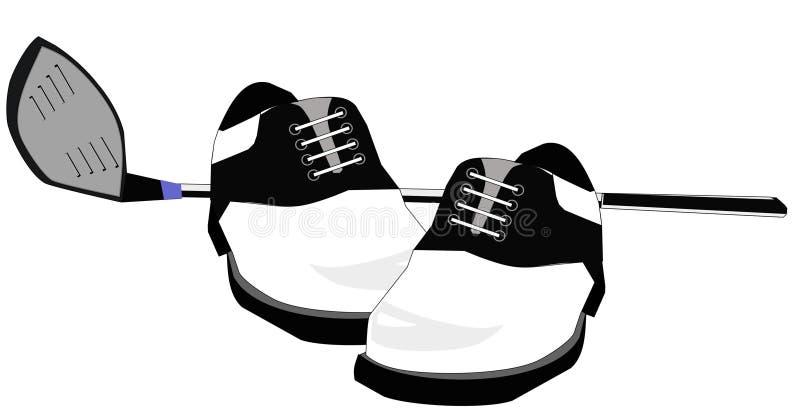świetlicowi golfowi ilustracyjni buty ilustracja wektor