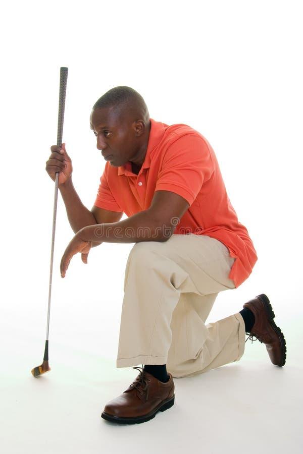 świetlicowy golfowy mężczyzna obrazy royalty free