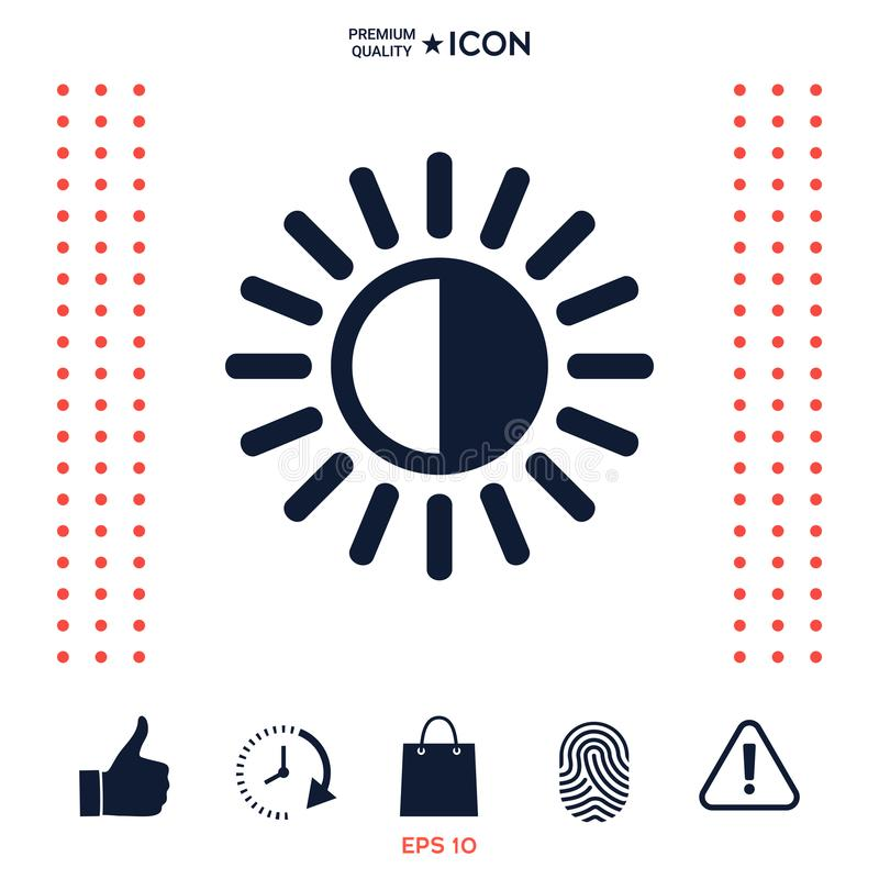 Świetlistość symbolu ikona royalty ilustracja