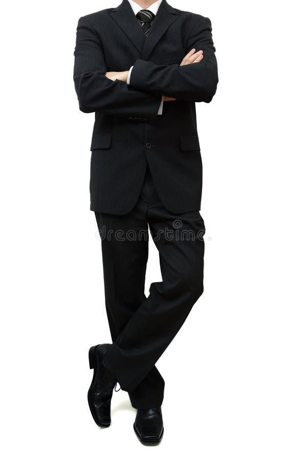 Świetna biznesmen pozycja z nogami i rękami krzyżującymi obraz stock