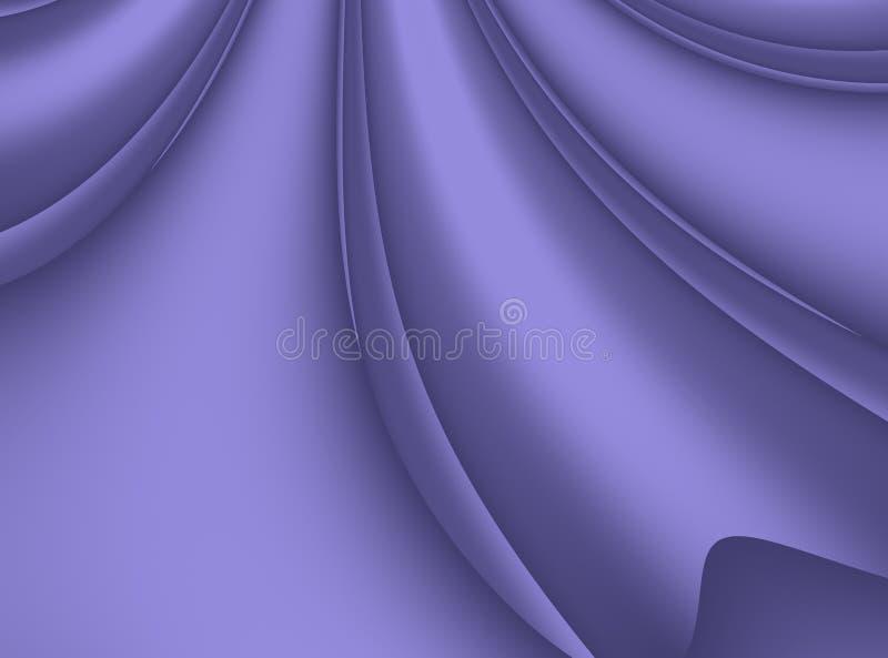Świetna purpurowa nowożytna abstrakcjonistyczna fractal tła ilustracja z stylizowanymi faborkami royalty ilustracja
