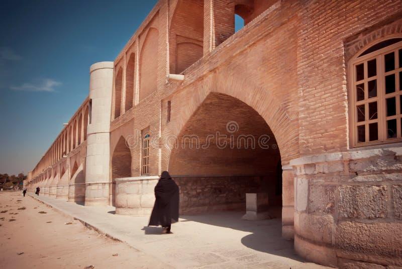 Świetny przykład Perska architektura, Khaju most obraz royalty free