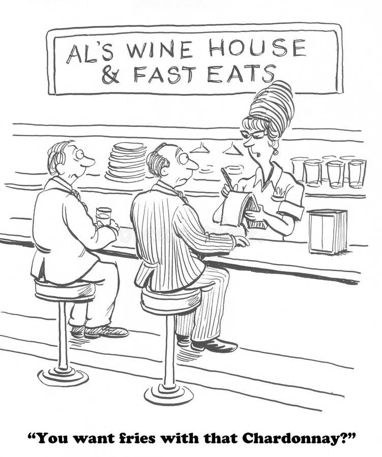 świetny wino royalty ilustracja