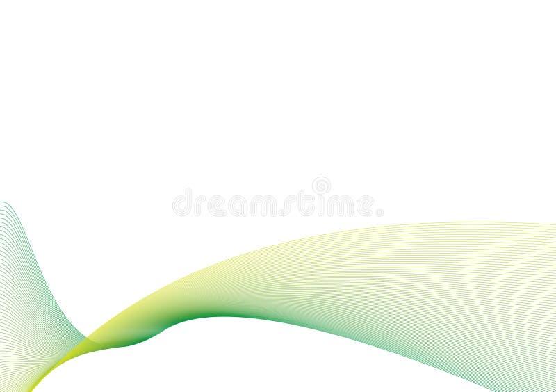 świetny zielonej fala biel ilustracji