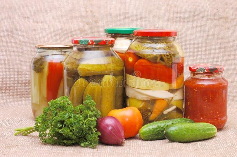 świezi cynowani warzywa fotografia stock