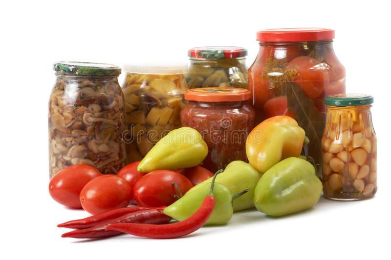 świezi cynowani warzywa zdjęcie stock