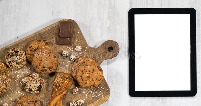 Świezi domowej roboty ciastka z pastylką zdjęcie stock