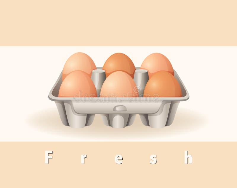 Świezi jajka ilustracja wektor