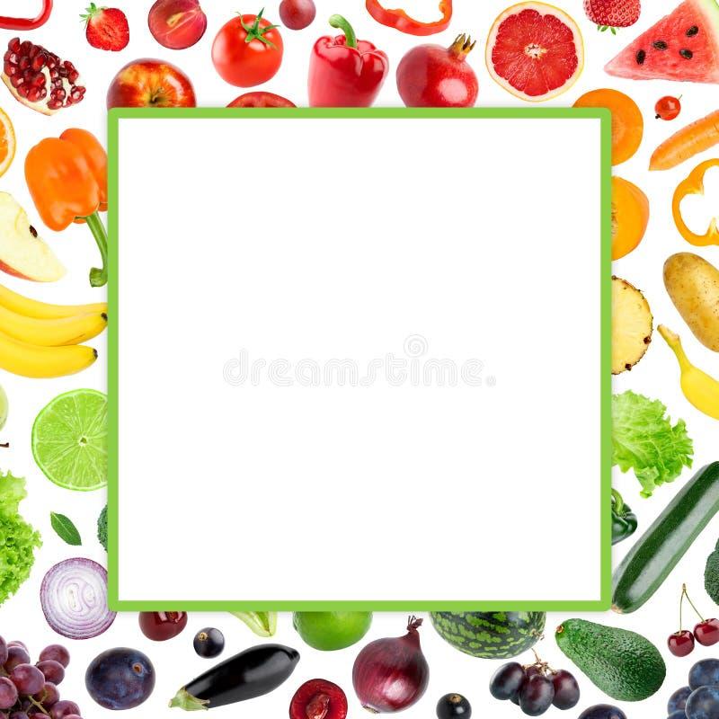 Świezi kolorów owoc i warzywo fotografia royalty free